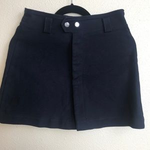 Zara Trafaluc Navy Button Up Skirt S/M